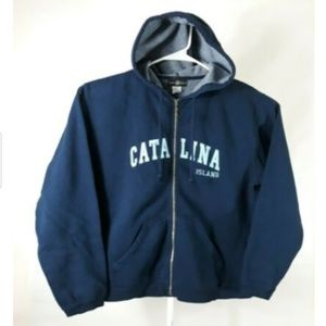 Catalina Island Blue Womens Souvenir Zip Up Hoodie